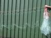 warrelnet / Staand want netten - Zeebaarsnet 55 meter kurken drijvers - 110cm hoog - mazen 130mm ( zgn; Warrelnet, staandwantnet)